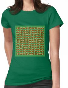 Leaves Illusion Womens Fitted T-Shirt