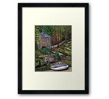 House on the River Derwent Framed Print