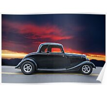 1934 Ford Coupe in Profile Poster
