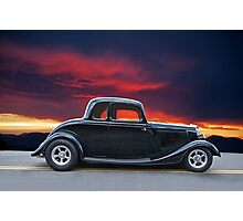 1934 Ford Coupe in Profile Photographic Print