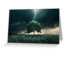 Thunder and lighting Greeting Card