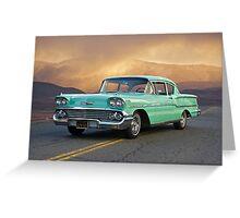 1958 Chevrolet Delray Greeting Card