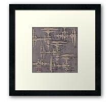 Audio Tokens  Framed Print