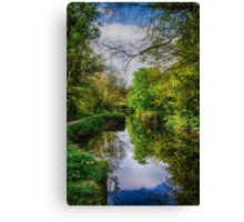 Canal towpath walk Canvas Print