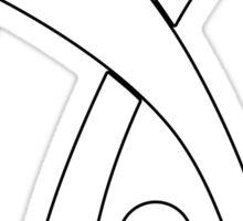 Deus EX logo no text black Sticker