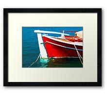 Blue,Red and White Framed Print