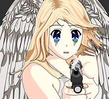 Anime Angel With Gun by Mixtape