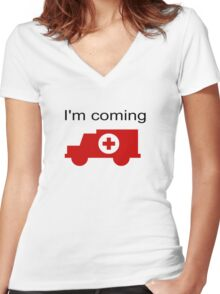 funny Women's Fitted V-Neck T-Shirt
