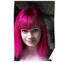 Portrait of pink  Poster