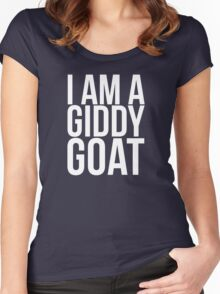 I am a Giddy Goat Women's Fitted Scoop T-Shirt
