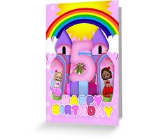 5th Birthday Bouncy Castle Greeting Card For Girls Greeting Card