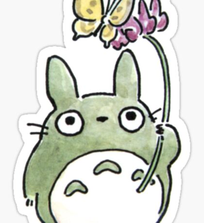 Totoro Flowers Sticker
