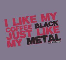 I Like My Coffee Black Just Like My Metal Kids Tee