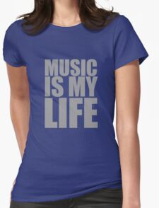 Music Is My Life Womens Fitted T-Shirt