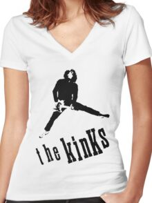 The Kinks Dave Davies Women's Fitted V-Neck T-Shirt