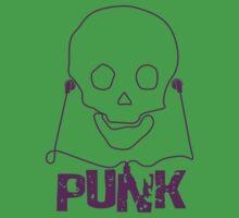 Punk Music Skull One Piece - Short Sleeve
