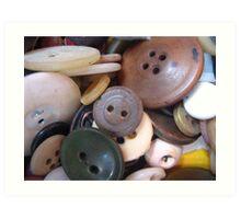 Buttons! Art Print