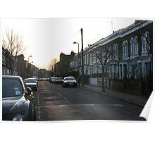 Shiny Cars Hackney Backstreet Poster