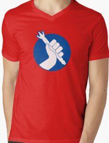Panic, But Don't Blink Mens V-Neck T-Shirt