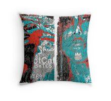 Incarnata Diptych #25 Throw Pillow