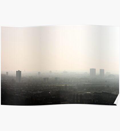 Misty Blocks Poster