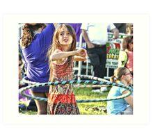 Hula Hoop Mastery  Art Print
