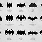 the evolution of batman logos through the years by 11grim