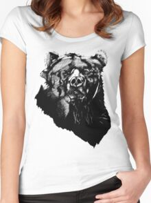 Bear Sketching Women's Fitted Scoop T-Shirt