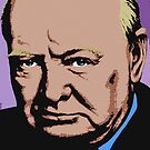SIR WINSTON CHURCHILL-COLOUR by OTIS PORRITT