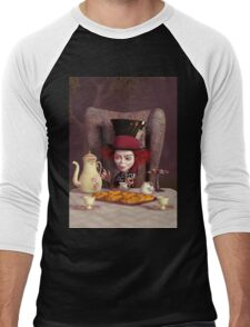The Hatter - Tea Time Men's Baseball ¾ T-Shirt