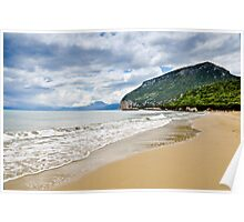 Beautiful island beach on sunny day in Sardinia Poster