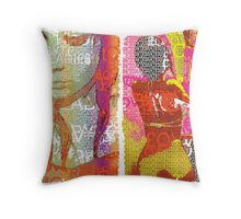 Incarnata Diptych #28 Throw Pillow