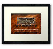 Americana - Radio - Remember what radio was like Framed Print