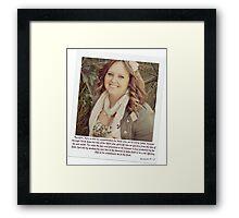 ~ No condemnation in Christ ~ Framed Print
