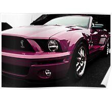 Pink Cobra Mustang Poster