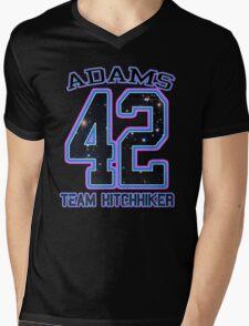TEAM HITCHHIKER _Adams Mens V-Neck T-Shirt