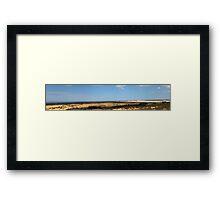 Pinnacles Panorama  Framed Print