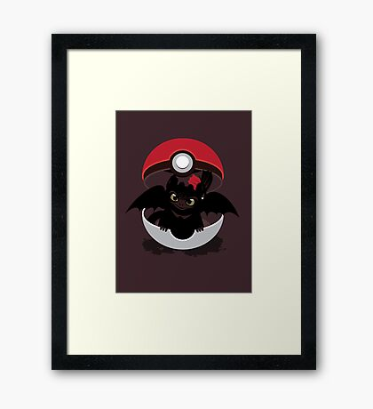 How To Catch Your Dragon Framed Print