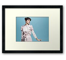 Buttons Lace and Pinch Framed Print