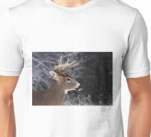 Catching Snowflakes - White-tailed Deer Unisex T-Shirt
