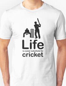 Cricket v Life - White Unisex T-Shirt