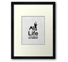 Cricket v Life - Marble Framed Print