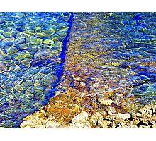 The Water Around Cap Ferrat Photographic Print