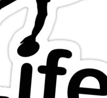 Rugby v Life - White Sticker