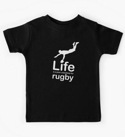 Rugby v Life - Black Kids Tee