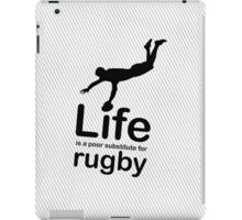 Rugby v Life - Black iPad Case/Skin