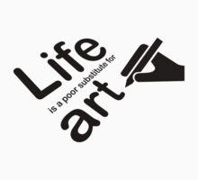 Art v Life - White One Piece - Short Sleeve