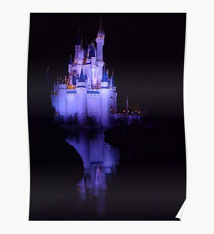 Reflections of a castle Poster