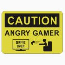 Caution: Angry Gamer!  by oksy19