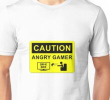 Caution: Angry Gamer!  Unisex T-Shirt